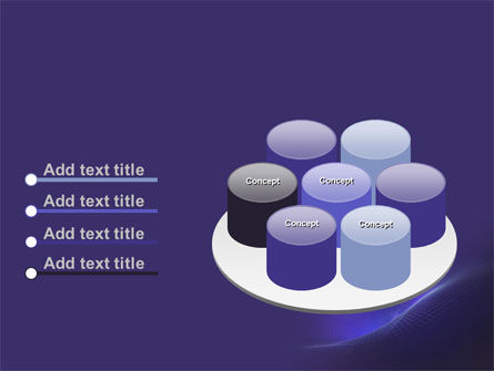Blue Fragmented Surface PowerPoint Template Slide 12