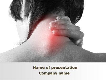 Medical: Neck And Spinal Disease PowerPoint Template #09306