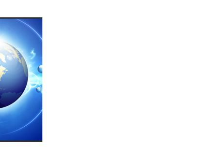 Blue Colored Globe PowerPoint Template, Slide 3, 09308, Global — PoweredTemplate.com