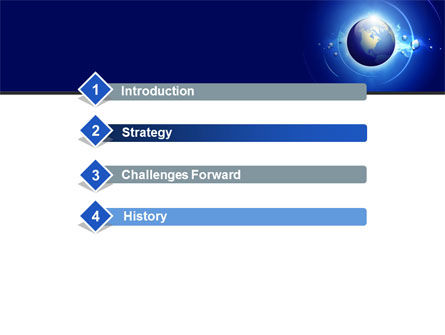 Blue Colored Globe PowerPoint Template, Slide 3, 09308, Global — PoweredTemplate.com