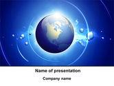 Global: Modelo do PowerPoint - azul colorido globo #09308