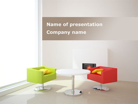 Careers/Industry: Plan Of Interior PowerPoint Template #09309