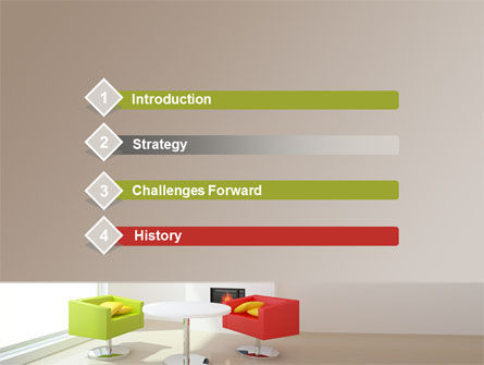 Plan Of Interior PowerPoint Template Slide 3