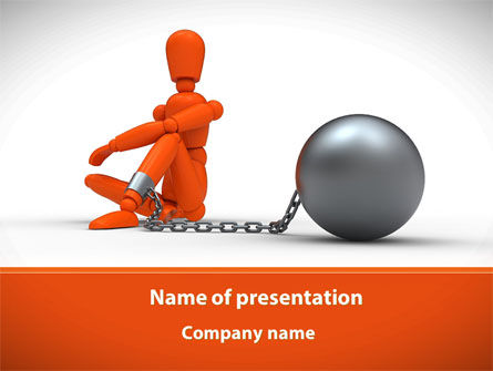 Arrested Man PowerPoint Template, 09311, Consulting — PoweredTemplate.com