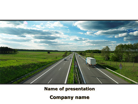 Cars and Transportation: Road Freight PowerPoint Template #09312