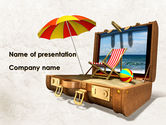 Health and Recreation: Summer Vacation Memories PowerPoint Template #09314