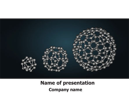 Technology and Science: Dodecahedral Crystal Lattice PowerPoint Template #09315