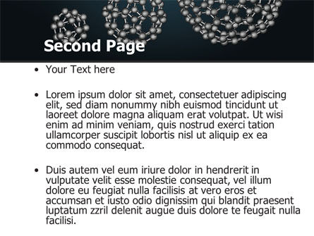 Dodecahedral Crystal Lattice PowerPoint Template Slide 2