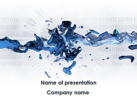 Computer Crash PowerPoint Template, 09316, Nature & Environment — PoweredTemplate.com