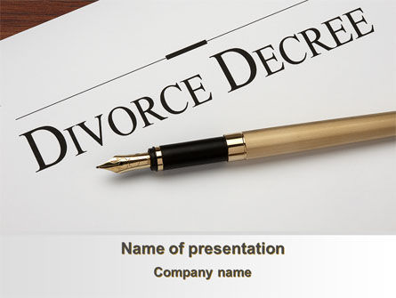 Divorce Decree PowerPoint Template, 09317, Consulting — PoweredTemplate.com
