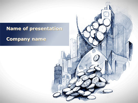 Cash Time PowerPoint Template, 09322, Consulting — PoweredTemplate.com