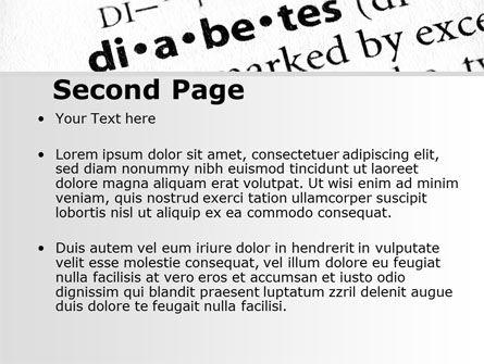 Diabetes PowerPoint Template, Slide 2, 09323, Medical — PoweredTemplate.com