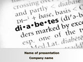 Medical: Diabetes PowerPoint Template #09323