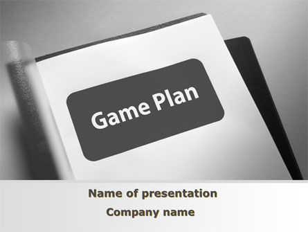 Consulting: Game Plan PowerPoint Template #09324
