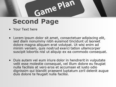 Game Plan PowerPoint Template Slide 2