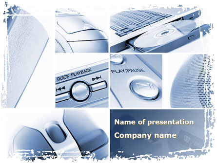 Multimedia Devices PowerPoint Template, 09326, Technology and Science — PoweredTemplate.com