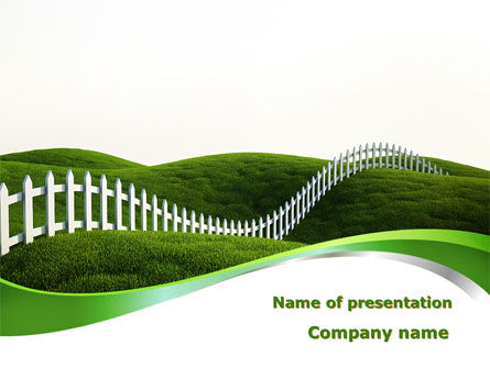 Nature & Environment: Border PowerPoint Template #09328