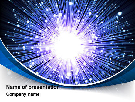 Technology and Science: Optical Fiber PowerPoint Template #09330