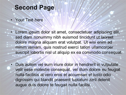 Optical Fiber PowerPoint Template, Slide 2, 09330, Technology and Science — PoweredTemplate.com