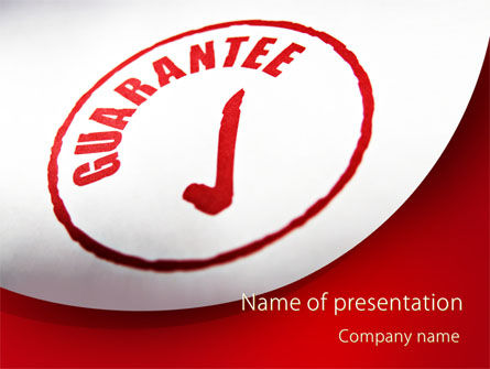 Consulting: Garantiezegel PowerPoint Template #09331