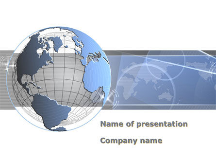 Global: Globe Wired Model PowerPoint Template #09333