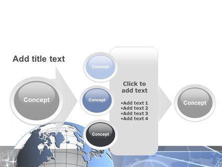 Globe Wired Model PowerPoint Template Slide 17