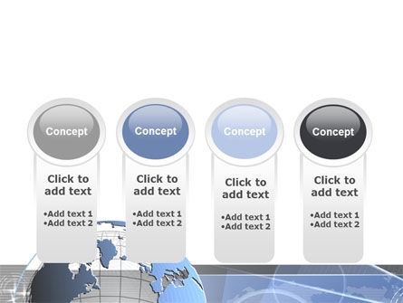 Globe Wired Model PowerPoint Template Slide 5