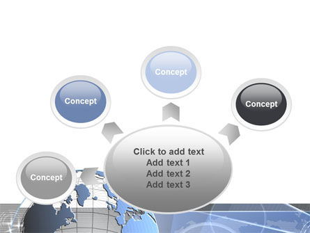 Globe Wired Model PowerPoint Template Slide 7