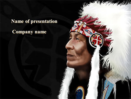 American indian chief powerpoint template backgrounds 09334 american indian chief powerpoint template toneelgroepblik Images