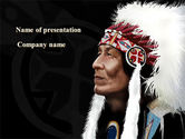 Flags/International: American Indian Chief PowerPoint Template #09334
