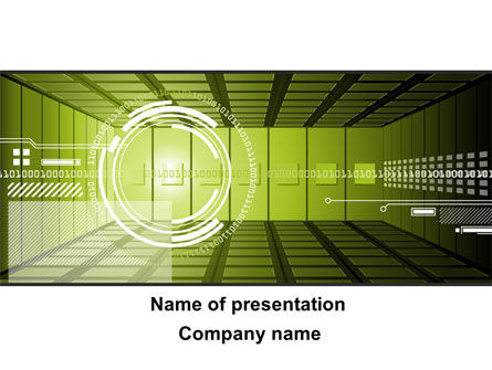 Technology and Science: Digital Art PowerPoint Template #09336