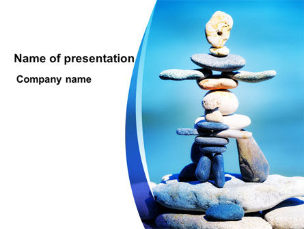 Stone Figures PowerPoint Template, 09338, People — PoweredTemplate.com