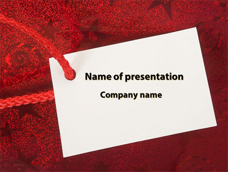 Tag PowerPoint Template, 09339, Holiday/Special Occasion — PoweredTemplate.com