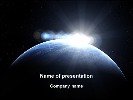 Deep Space Sunrise PowerPoint Template, 09341, Global — PoweredTemplate.com