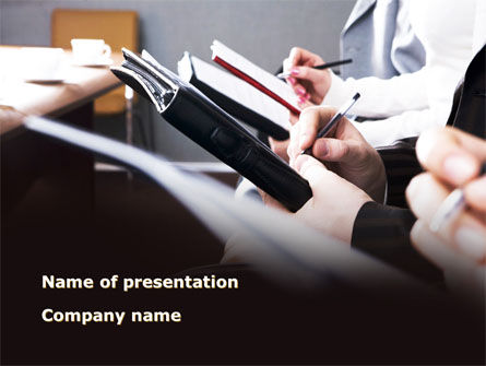 Briefing Meeting PowerPoint Template, 09342, Consulting — PoweredTemplate.com