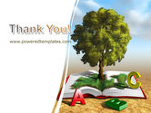 Green Tree of Knowledge PowerPoint Template#20