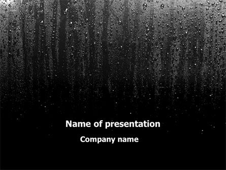 Religious/Spiritual: Drops On a Dark Glass PowerPoint Template #09346