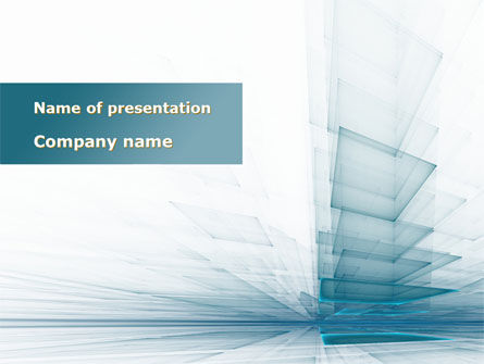 Careers/Industry: Glass Surfaces PowerPoint Template #09347