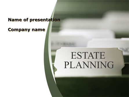 Real Estate: Estate Planning PowerPoint Template #09348