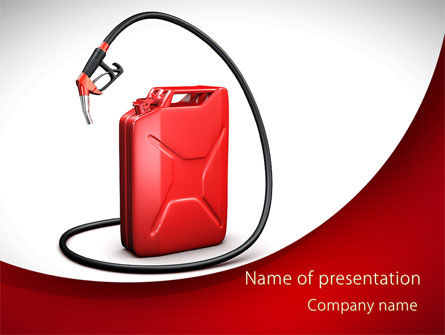 Cars and Transportation: Gasoline Jerrycan PowerPoint Template #09349