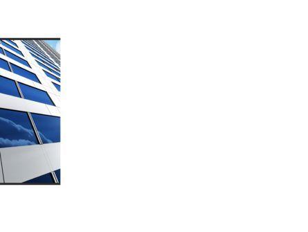 Blue Skyscraper PowerPoint Template, Slide 3, 09351, Construction — PoweredTemplate.com