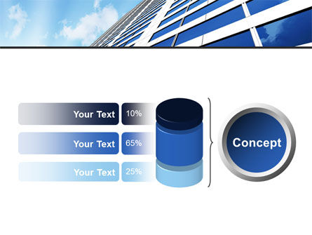 Blue Skyscraper PowerPoint Template Slide 11