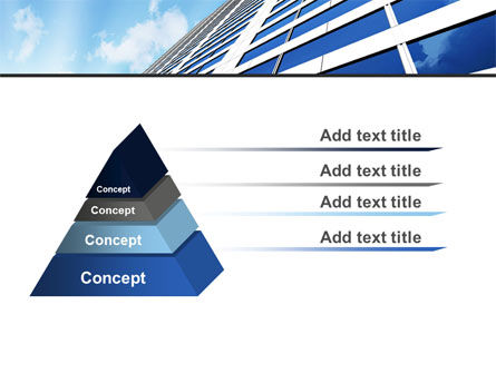 Blue Skyscraper PowerPoint Template Slide 12