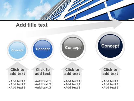 Blue Skyscraper PowerPoint Template Slide 13