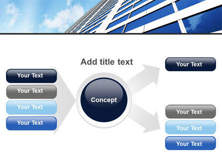 Blue Skyscraper PowerPoint Template Slide 14