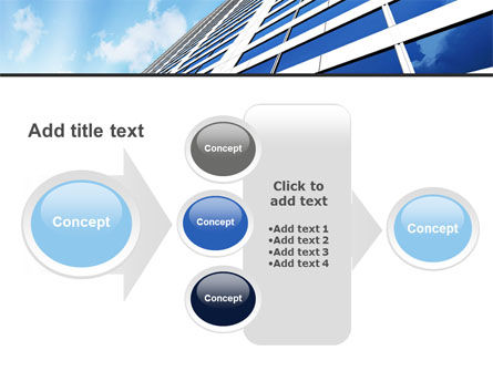 Blue Skyscraper PowerPoint Template Slide 17
