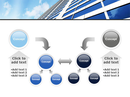 Blue Skyscraper PowerPoint Template Slide 19
