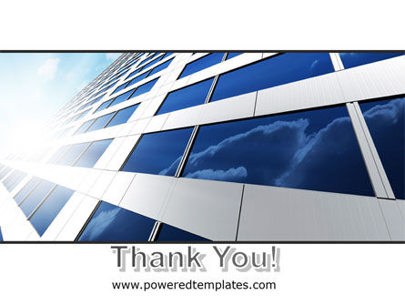 Blue Skyscraper PowerPoint Template Slide 20