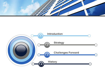 Blue Skyscraper PowerPoint Template Slide 3