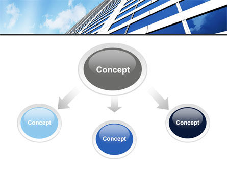 Blue Skyscraper PowerPoint Template, Slide 4, 09351, Construction — PoweredTemplate.com